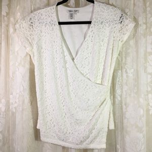 Coldwater Creek Lace Pullover Shirt